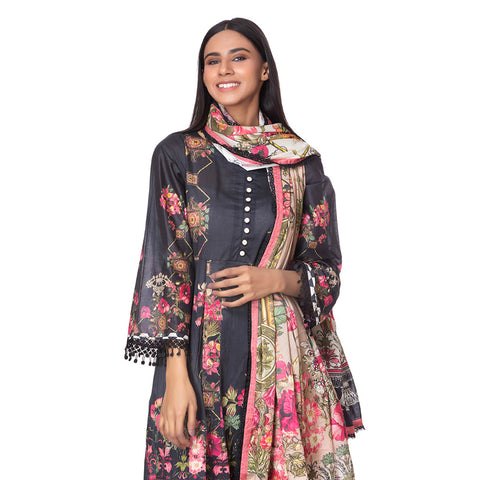 Salina Pop Digital  Printed Lawn 3 Piece Un-Stitched Suit Vol 1 - 05