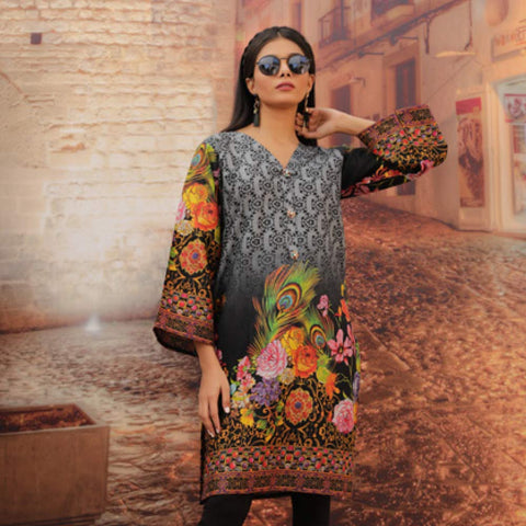 Chase Value Centre Printed Khaddar Un-Stitched Kurti Vol 3 - 05