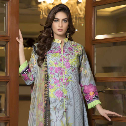 Zmaria Embroidered Lawn Un-Stitched Suit - 5A