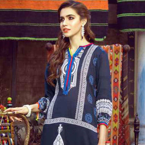 Monsoon Printed Lawn 3 Piece Un-Stitched Suit Vol 1 - 5 A