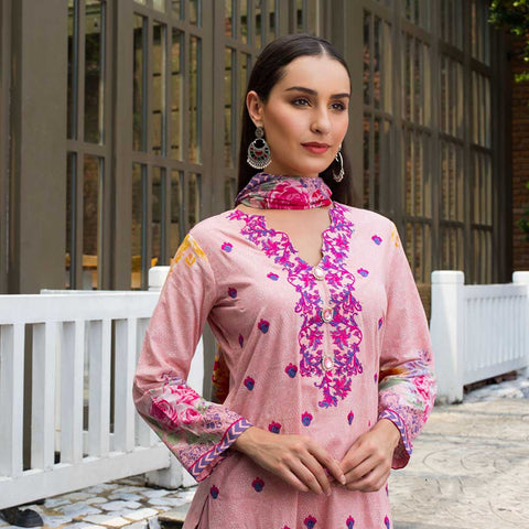 Sahil Embroidered Cotton 3 Pieces Un-Stitched Suit Vol 1 - 5 A