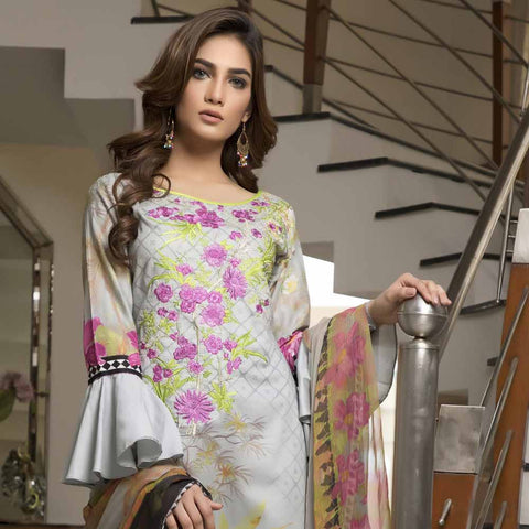 Zmaria Embroidered Lawn Un-Stitched Suit - 5B
