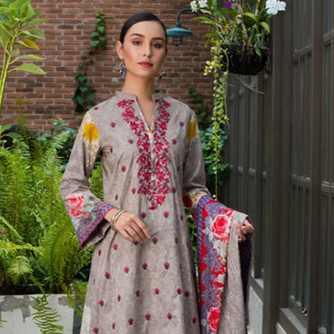 Sahil Embroidered Cotton 3 Pieces Un-Stitched Suit Vol 1 - 5 B