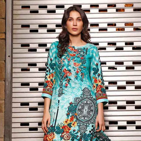 Haya Emaan Embroidered Viscose 3 Piece Un-Stitched Suit - 5B