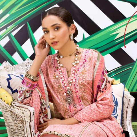 Signature Icon Printed Embroidered Lawn 3 Piece Un-Stitched Suit - 5 B