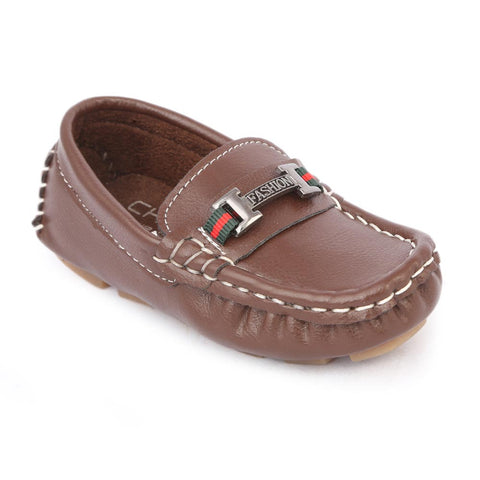 Boys Loafers Shoes - Coffee