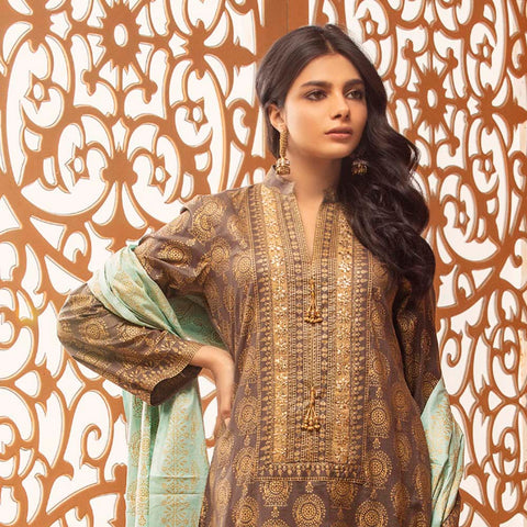 Rangreza Printed Lawn 3 Piece Un-Stitched Suit Vol 2 - 05