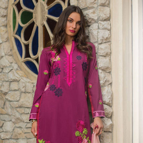 Maira Ahsan Embroidered Chiffon 3 Piece Un-Stitched Suit - 06