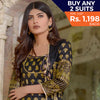 Three Star Printed Lawn 3 Piece Un-Stitched Suit Vol 2 - 8 B