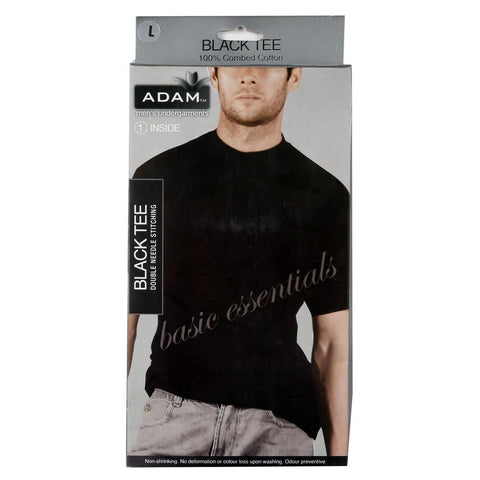 Adam Mens Black Tee Shirt - test-store-for-chase-value