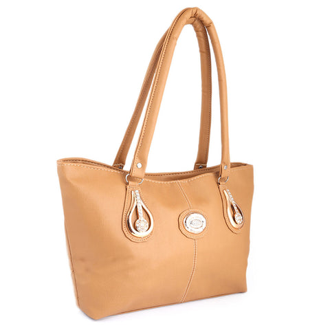 Women's Handbag (6833) - Light Brown - test-store-for-chase-value