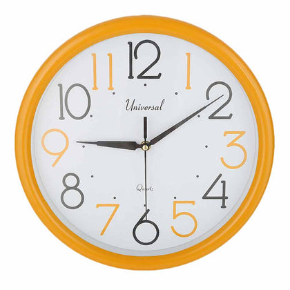 Analog Wall Clock 689C - Yellow