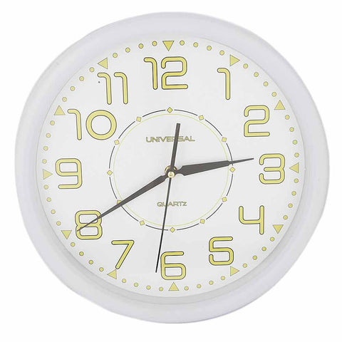 Analog Wall Clock 689C - White
