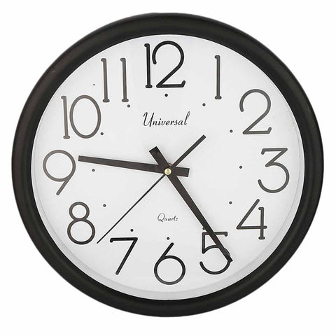 Analog Wall Clock 689 - Black