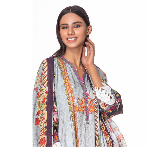 Salina Pop Digital  Printed Lawn 3 Piece Un-Stitched Suit Vol 1 - 06