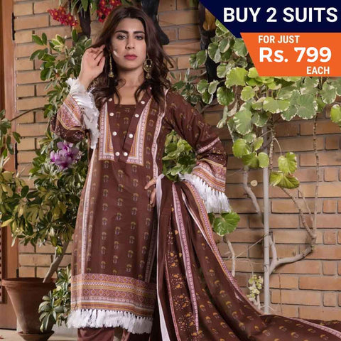 Sahil Printed Lawn Festive 3 Piece Un-Stitched Suit Vol 05 - 5 - test-store-for-chase-value