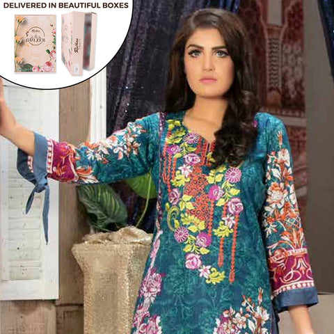 Gulzeb Embroidered Lawn Un-Stitched Suit - 8