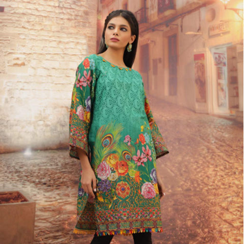 Chase Value Centre Printed Khaddar Un-Stitched Kurti Vol 3 - 06