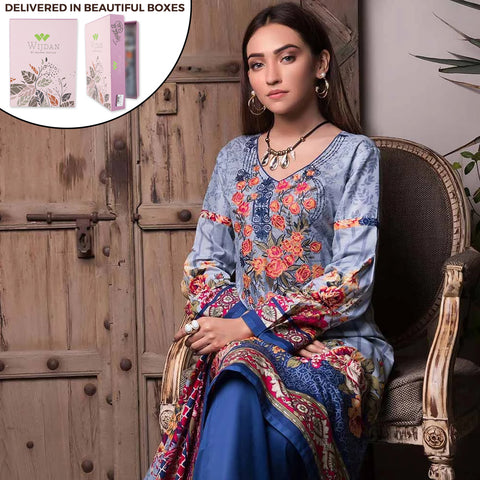 Noor Fatima Embroidered Lawn 3 Piece Un-Stitched Suit - B3