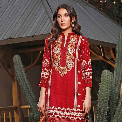 Haya Emaan Embroidered Viscose 3 Piece Un-Stitched Suit - 6A