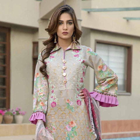 Zmaria Embroidered Lawn Un-Stitched Suit - 6B