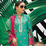 Signature Icon Printed Embroidered Lawn 3 Piece Un-Stitched Suit - 6 B