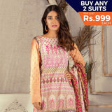 Rangreza Printed Lawn 3 Piece Un-Stitched Suit Vol 1 - 07