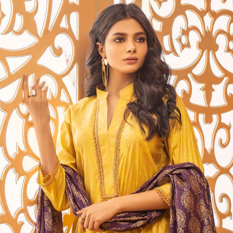 Rangreza Printed Lawn 3 Piece Un-Stitched Suit Vol 2 - 06