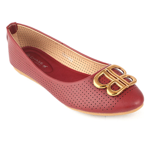 Women's Fancy Pumps (7061-H42) - Maroon - test-store-for-chase-value