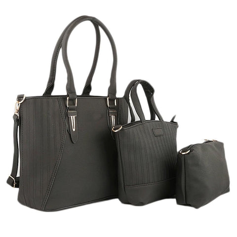 Women's Handbag 3 Pcs (7713) - Black