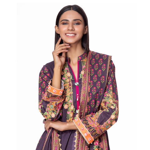 Salina Pop Digital  Printed Lawn 3 Piece Un-Stitched Suit Vol 1 - 07