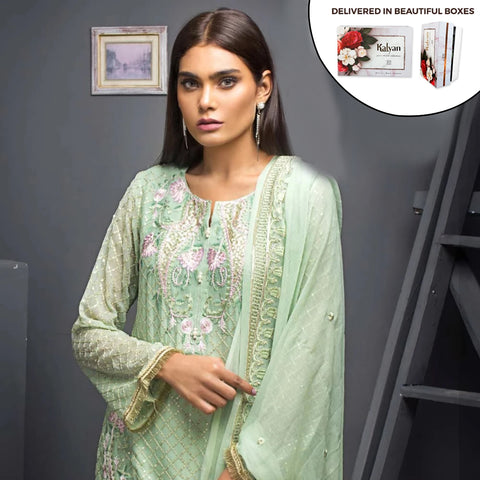Kalyan Chiffon Embroidered 3 Piece Un-Stitched Suit - 06