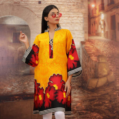 Chase Value Centre Printed Khaddar Un-Stitched Kurti Vol 3 - 07