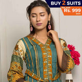 Rangreza Printed Lawn 3 Piece Un-Stitched Suit Vol-07 ZS - 04 - test-store-for-chase-value