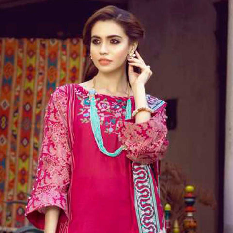 Monsoon Printed Lawn 3 Piece Un-Stitched Suit Vol 1 - 7 A