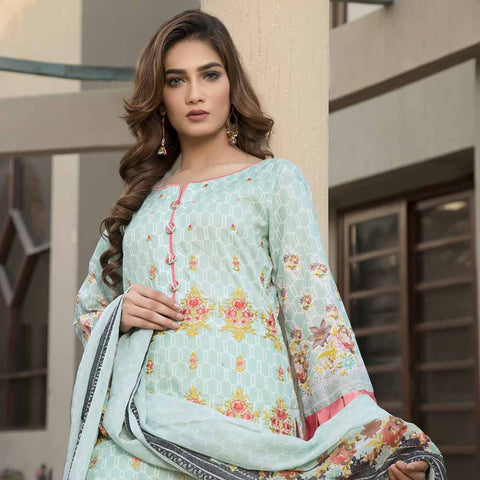 Zmaria Embroidered Lawn Un-Stitched Suit - 7A
