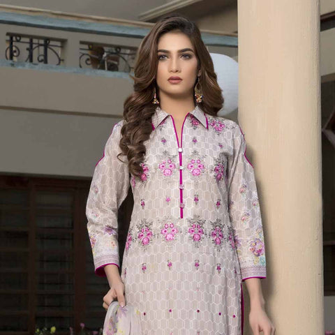 Zmaria Embroidered Lawn Un-Stitched Suit - 7B
