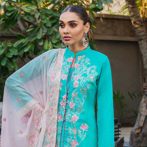 Kalyan Embroidered Lawn 3 Piece Un-Stitched Suit Vol 1 - 07