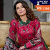 Three Star Printed Lawn 3 Piece Un-Stitched Suit Vol 1 - 4 A