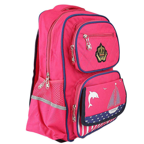 Kids School Bag (8229) - Dark Pink