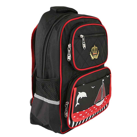 Kids School Bag (8229) - Black
