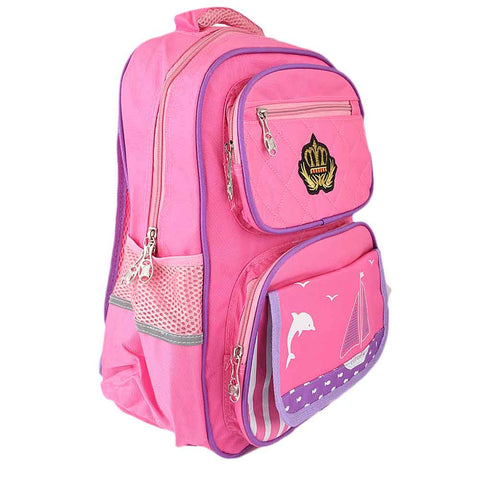Kids School Bag (8229) - Pink