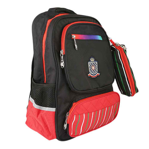 Kids School Bag (8230) - Black/Red