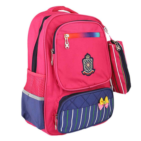 Kids School Bag (8230) - Dark Pink
