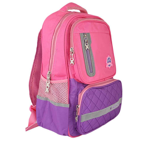Kids School Bag (8231) - Pink/Purple