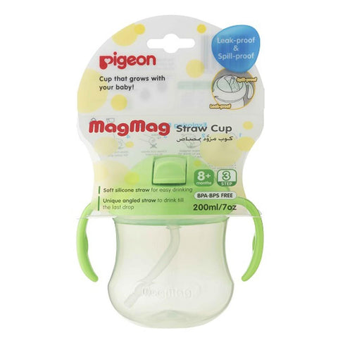 Pigeon Mag Straw Cup Green (D165) - test-store-for-chase-value