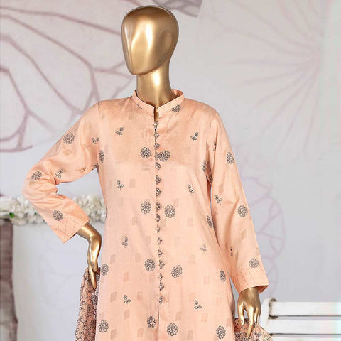 Amna Sohail Broshia Embroidered 3 Piece Un-Stitched Suit - 8631 B