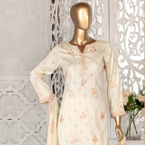 Amna Sohail Broshia Embroidered 3 Piece Un-Stitched Suit - 8632 A