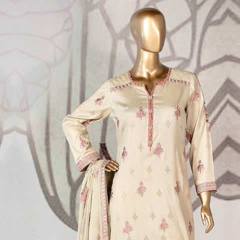 Amna Sohail Broshia Embroidered 3 Piece Un-Stitched Suit - 8632 B