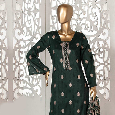 Amna Sohail Broshia Embroidered 3 Piece Un-Stitched Suit - 8633 A
